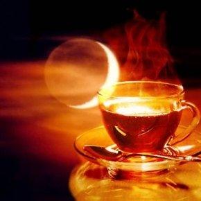 Чай с имбирём и с долькою луны